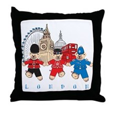 Teddy Holding Hands Throw Pillow