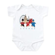 Teddy Holding Hands Infant Bodysuit