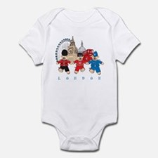 Teddy Holding Hands Infant Bodysuit
