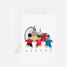 Teddy Holding Hands Greeting Cards (Pk of 10)