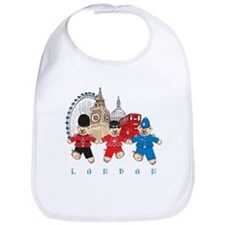 Teddy Holding Hands Bib