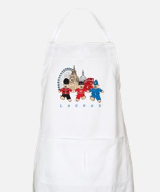 Teddy Holding Hands BBQ Apron
