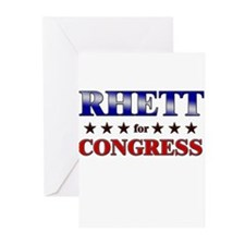 RHETT for congress Greeting Cards (Pk of 20)