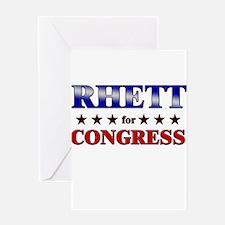 RHETT for congress Greeting Card