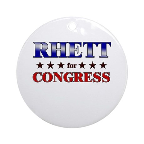 RHETT for congress Ornament (Round)