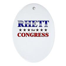 RHETT for congress Oval Ornament