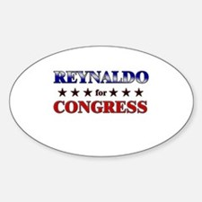 REYNALDO for congress Oval Decal