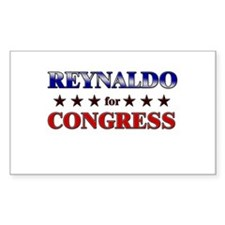 REYNALDO for congress Rectangle Decal