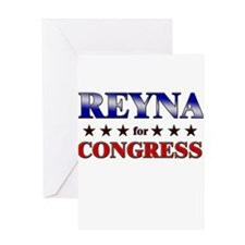REYNA for congress Greeting Card