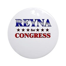REYNA for congress Ornament (Round)