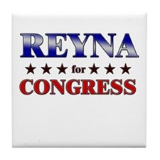 REYNA for congress Tile Coaster
