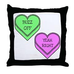 Conversation Hearts Throw Pillow