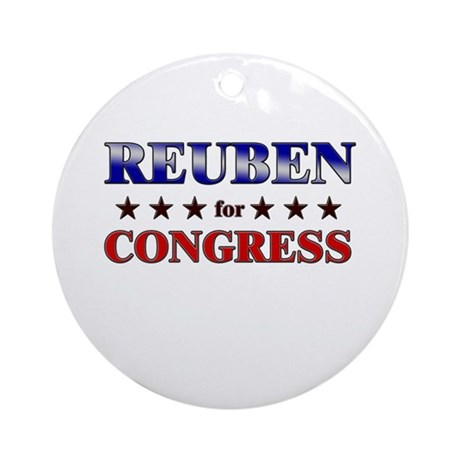 REUBEN for congress Ornament (Round)