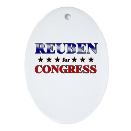 REUBEN for congress Oval Ornament