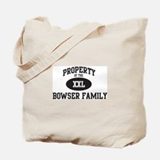 Property of Bowser Family Tote Bag