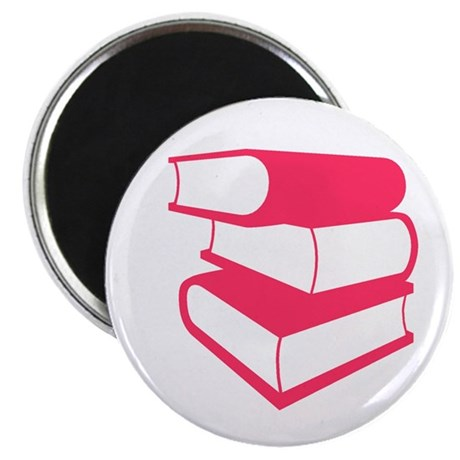 "Stack Of Pink Books 2.25"" Magnet (10 pack)"