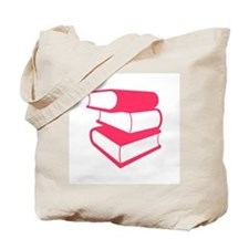 Stack Of Pink Books Tote Bag