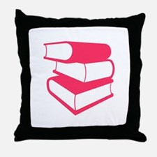 Stack Of Pink Books Throw Pillow