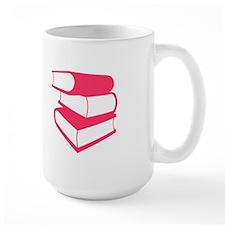 Stack Of Pink Books Mug