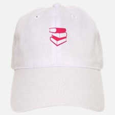 Stack Of Pink Books Baseball Baseball Cap