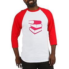 Stack Of Pink Books Baseball Jersey