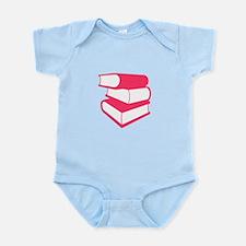 Stack Of Pink Books Infant Bodysuit