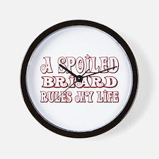 Spoiled Briard Wall Clock