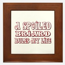 Spoiled Briard Framed Tile