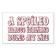 Spoiled Bracco Rectangle Decal