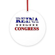 REINA for congress Ornament (Round)