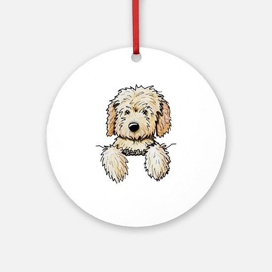 Pocket Doodle Pup Ornament (Round)
