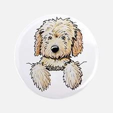 """Pocket Doodle Pup 3.5"""" Button"""