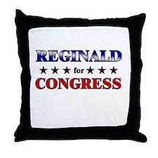 REGINALD for congress Throw Pillow