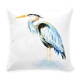 Blue heron Burlap Pillows
