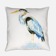 Cute Blue heron Everyday Pillow