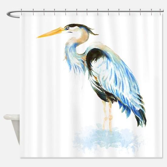 Cute Great blue heron Shower Curtain