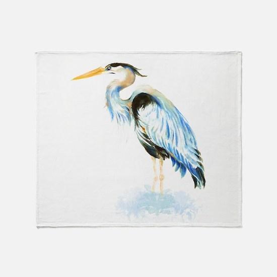 Unique Great blue heron Throw Blanket