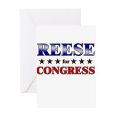 REESE for congress Greeting Card