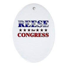 REESE for congress Oval Ornament