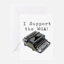 I support the WGA! Greeting Card
