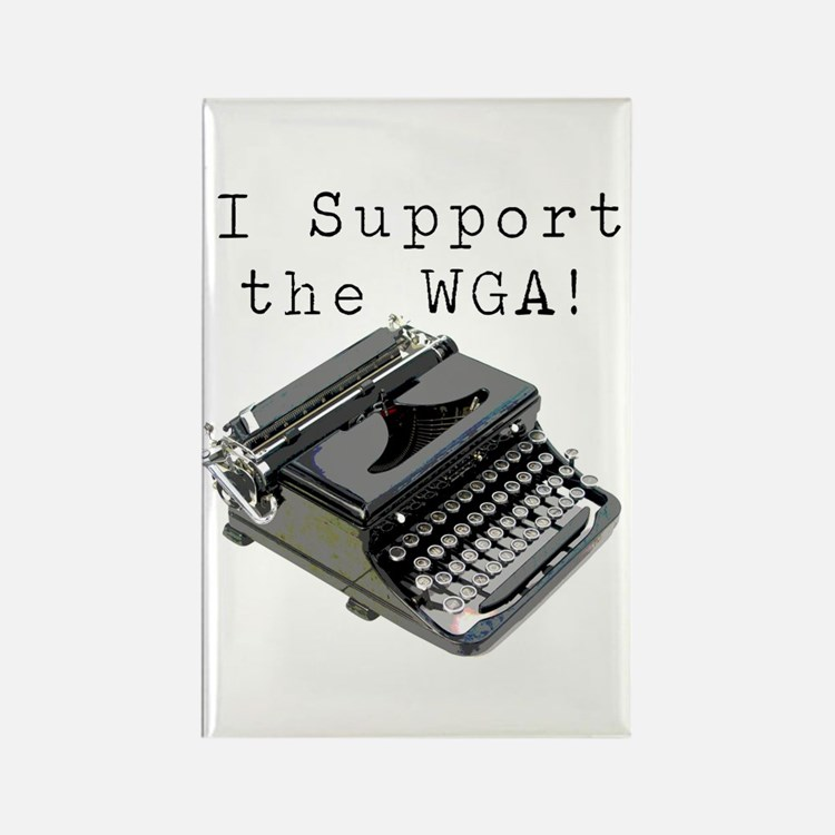 I support the WGA! Rectangle Magnet