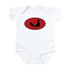 Computer Geek (euro-red) Infant Bodysuit