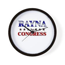 RAYNA for congress Wall Clock