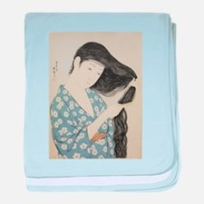 Hashiguchi Goyo - Woman in Blue Combi baby blanket