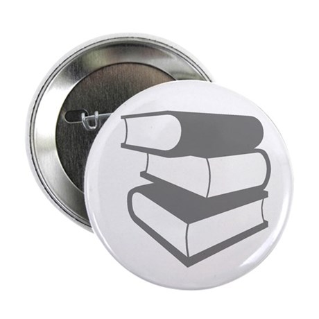 """Stack Of Gray Books 2.25"""" Button (100 pack)"""