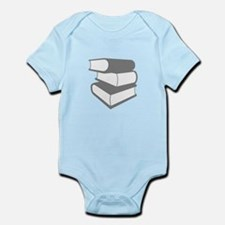 Stack Of Gray Books Infant Bodysuit