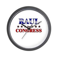 RAUL for congress Wall Clock