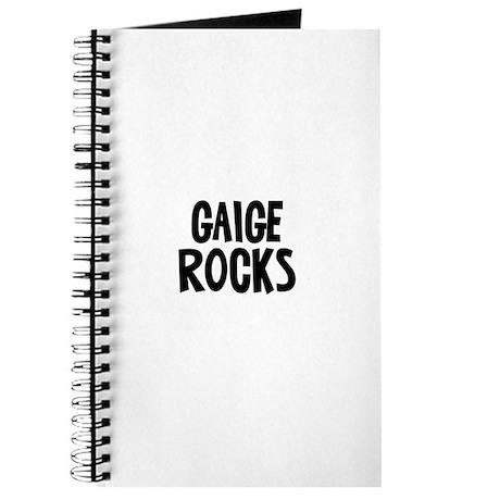 Gaige Rocks Journal