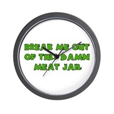 Meat Jail Wall Clock