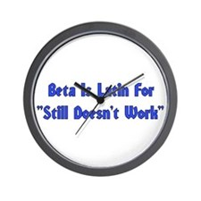 Beta Is Latin Wall Clock